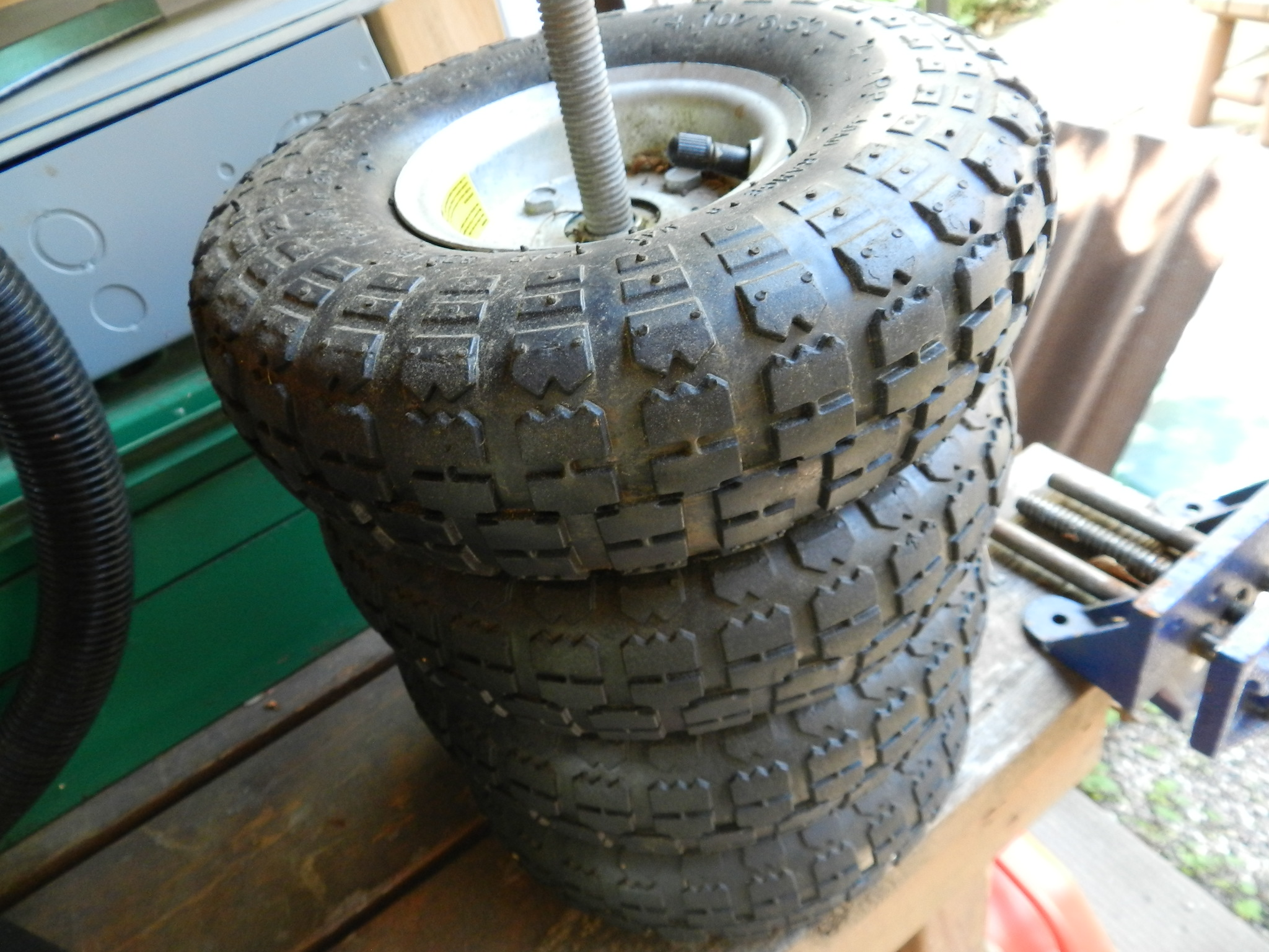 $39 - Four Brand New Pneumatic Utility Tires