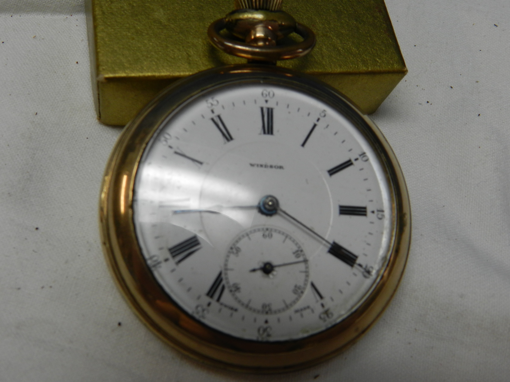 $69 - Waltham A.W.C Gold Filled/Plated Pocket watch
