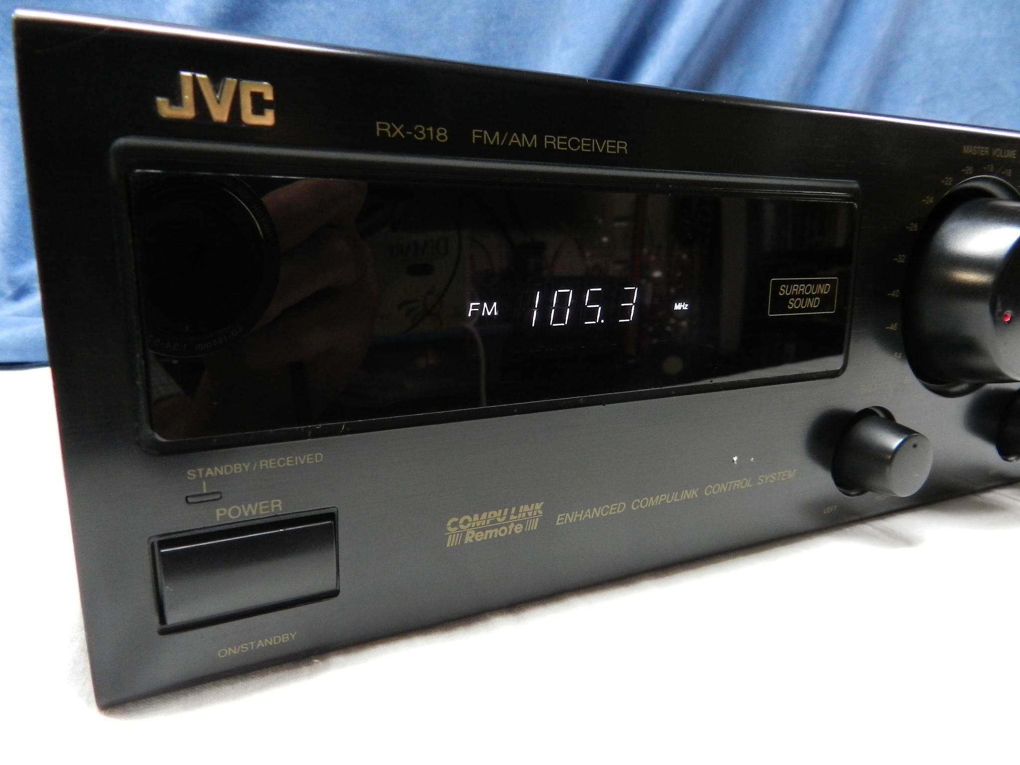 $45 - JVC RX-318 AM/FM Receiver and HomeTheatre - Power Amplifier