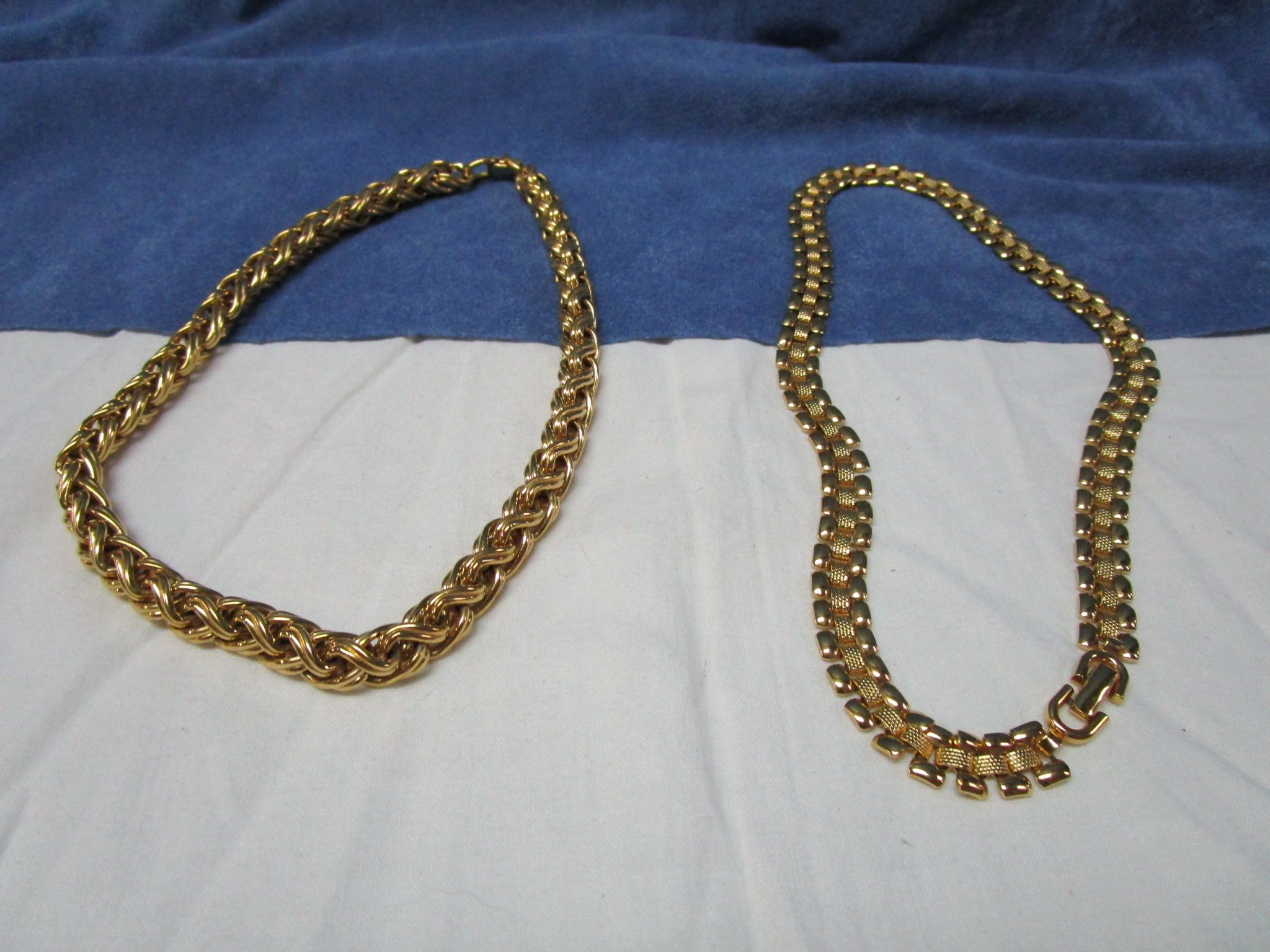 $17 - Monet Gold Splashed Multi-link Necklaces - Excellent
